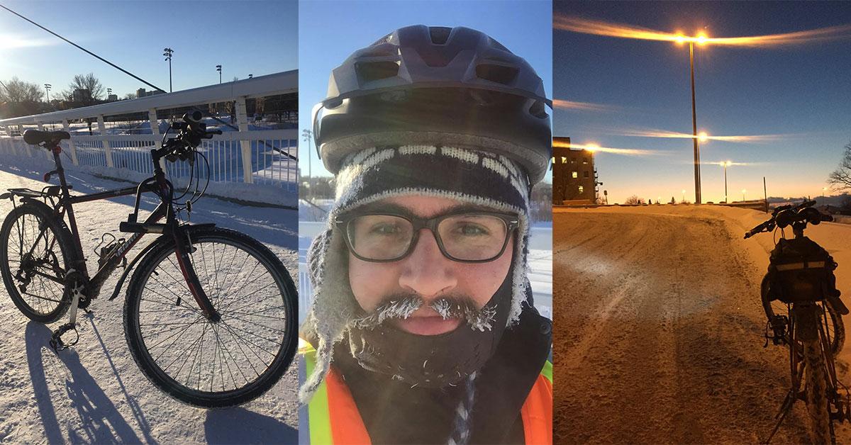 Un nouveau trajet à vélo.